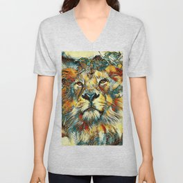 AnimalArt_Lion_20170607_by_JAMColorsSpecial Unisex V-Neck