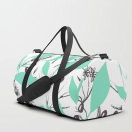 light blue flower pattern Duffle Bag