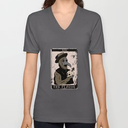 Tarot Card Occult The Pest Doctor Unisex V-Neck