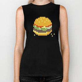 Pixel Burger Biker Tank