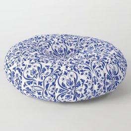 Blue Damask   Floor Pillow