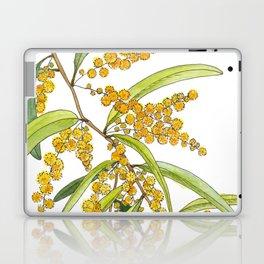 Australian Wattle Flower, Illustration Laptop & iPad Skin