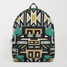 Ethnic african geometric pattern Backpack