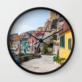 Procida Island Street,Naples,Italy Wall Clock
