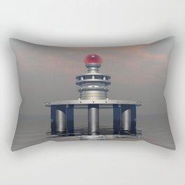 Mysterious Metallic Structure Rectangular Pillow