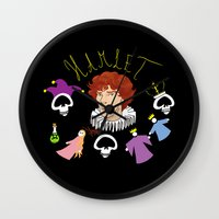 hamlet Wall Clocks featuring Hamlet - Prince of Denmark by TheScienceofDepiction
