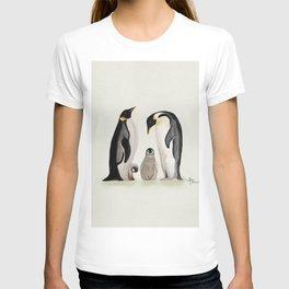 Penguin Family Watercolor T-shirt