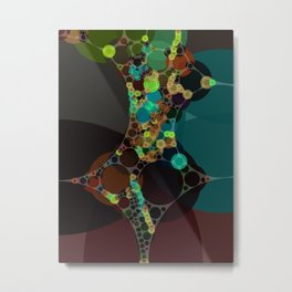 mylene - deep rich jewel tones emerald teal turquoise plum coffee abstract Metal Print