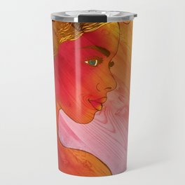 Independent Woman Sunset Travel Mug