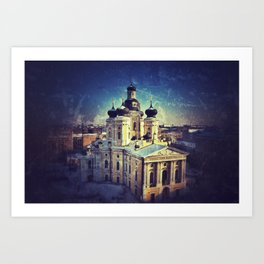 Cathedral At Dawn Art Print