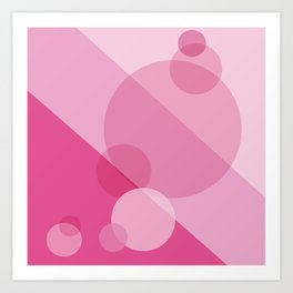 Pink Spheres Abstract Art Print