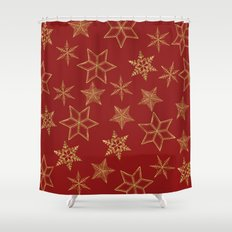 Red And Gold Shower Curtain. Snowflakes Red And Gold Blue and Shower Curtains  Society6