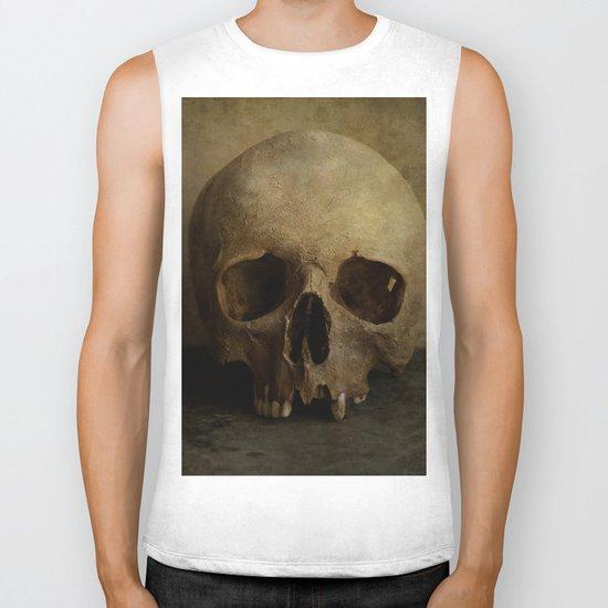 Male skull in retro style Biker Tank