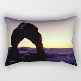 Delicate Arch Sunset  Rectangular Pillow