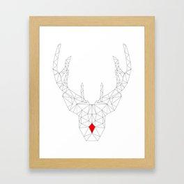 Red Nosed Reindeer Framed Art Print