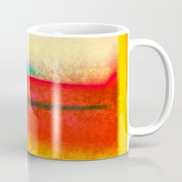 rothko Mugs featuring After Rothko 8 by Gary Grayson
