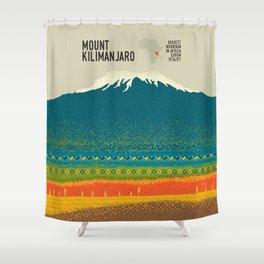 Mount Kilimanjaro Shower Curtain