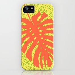 Memphis Monstera Firea iPhone Case