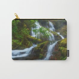 USA Panther Creek Falls, Columbia River Gorge, Skamania Nature Waterfalls Moss Carry-All Pouch