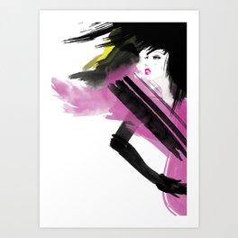 LadyViolet Art Print