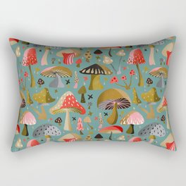 Mushroom Collection – Mint Rectangular Pillow