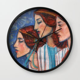 Tribute to Art Nouveau Wall Clock