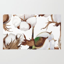 Cotton Flower Pattern 01 Rug