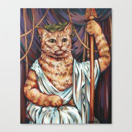 His Excellency, the Lord High Governor Mango Canvas Print