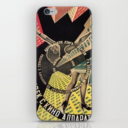 Man with a Movie Camera, vintage movie poster, 1929 iPhone Skin