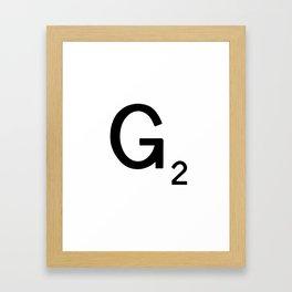 Letter F - Custom Scrabble Tile Letter Art - Scrabble F Framed Art Print