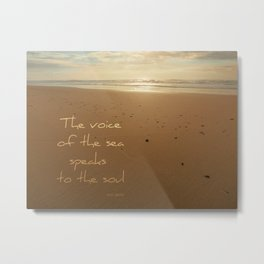 Sun-kissed Sea Metal Print