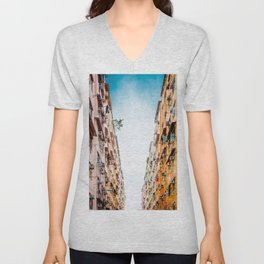 Residential aprtment in old district, Hong Kong Unisex V-Neck