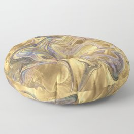 Marble Paint Swirl Trendy Abstract Glitter Rose Gold Teal Ultra Violet Floor Pillow
