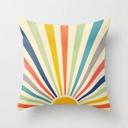 Sun Retro Art III Throw Pillow