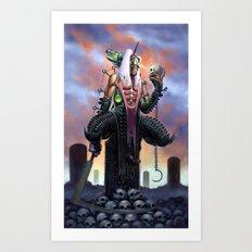 Harvester of Skulls Art Print