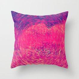 Colorful Concentric Circles Throw Pillow