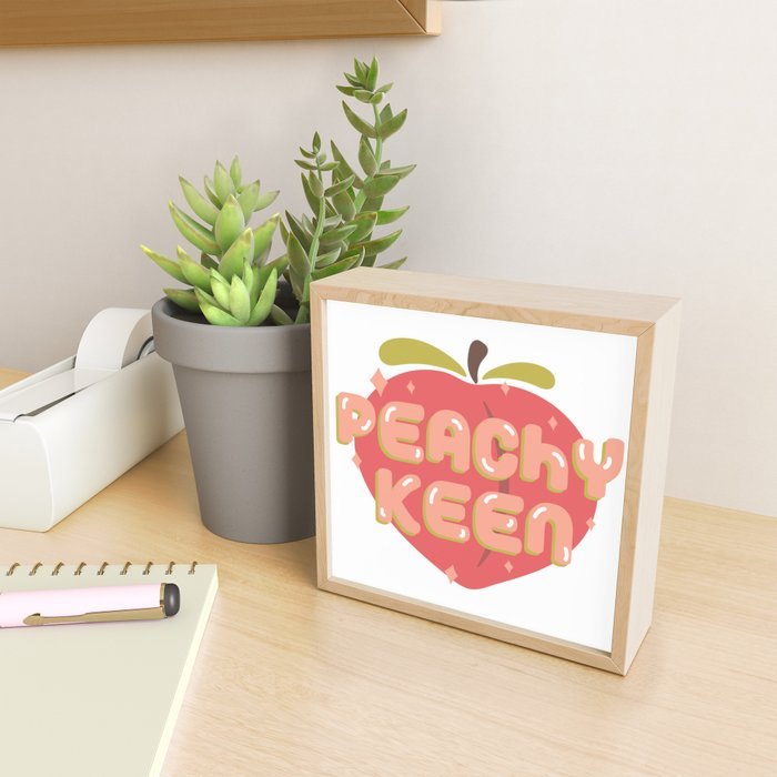Peachy Keen Framed Mini Art Print