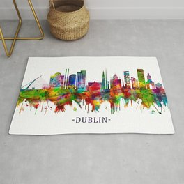 Dublin Republic of Ireland Skyline Rug