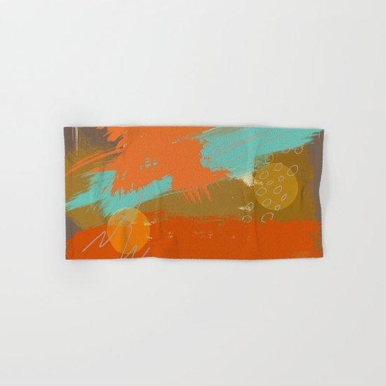 Secret Places, Abstract Landscape Art Hand & Bath Towel