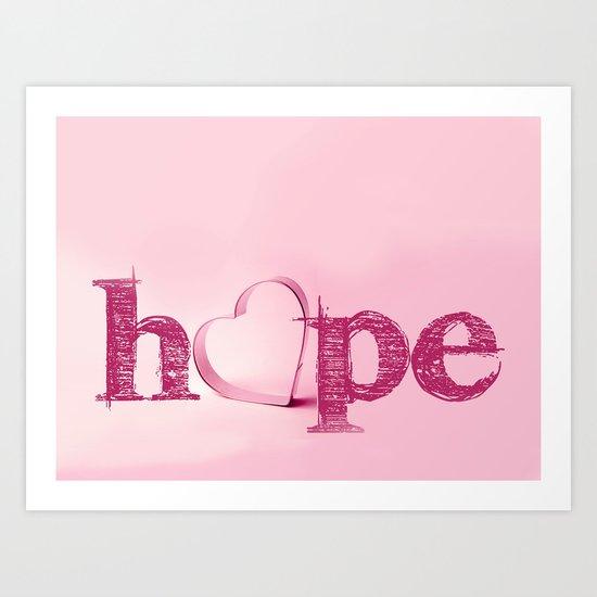 Hope's Heart - Pink Art Print