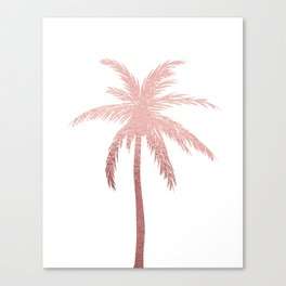 Rose Gold Palm Tree Canvas Print