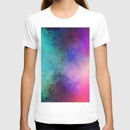 Mystical azure galaxy T-shirt