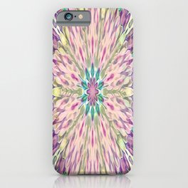 Purple Floral Kaleidoscope Abstract iPhone Case