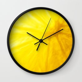 If life gives you lemons learn to make lemonade Wall Clock