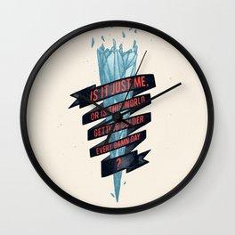 warming hoax Wall Clock