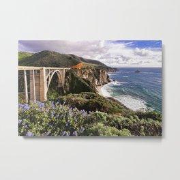 View Of The Bixby Creek Bridge Big Sur California Metal Print