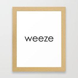 Weeze Framed Art Print
