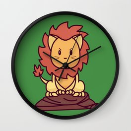 The Lion Cat Wall Clock