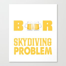 Awesome Gift For Skydiving Lover. Canvas Print