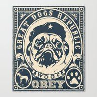 obey Canvas Prints featuring OBEY by solomnikov